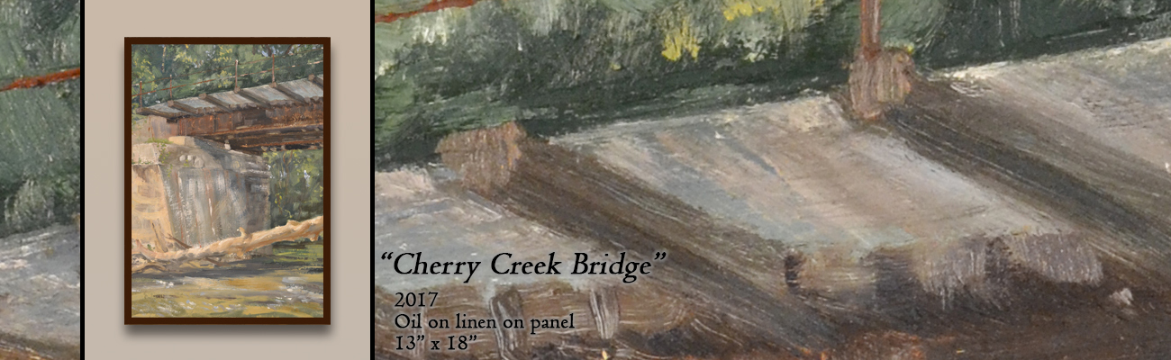 Oil Painting, Cherry Creek Bridge