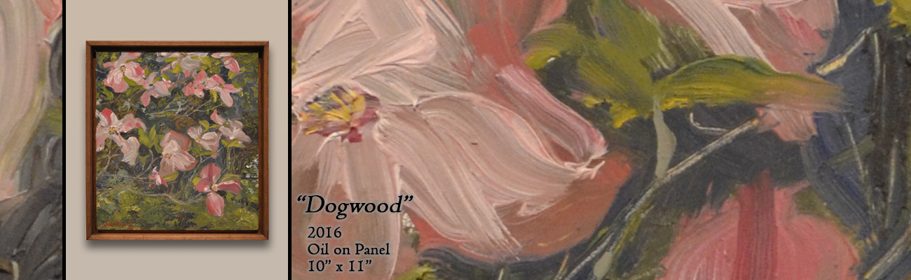 Oil Painting: Dogwood