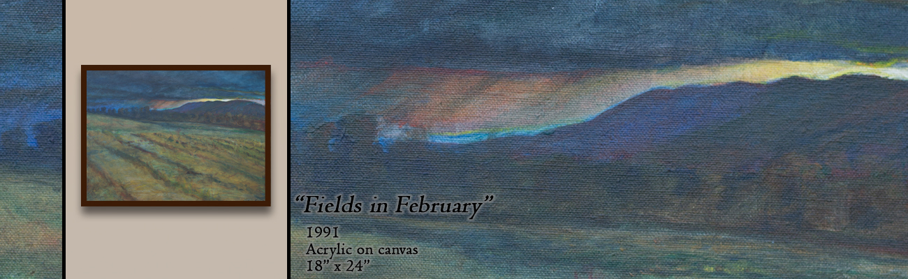 Oil Painting: Fields in February