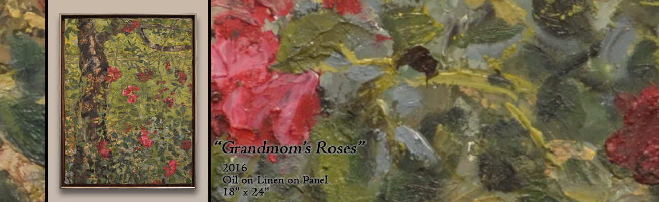 Oil Painting: Grandmom's Roses