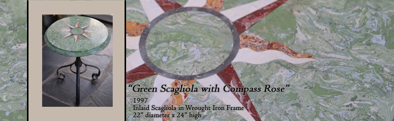 Scagliola Table: Compass Rose