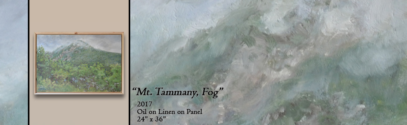 Oil Painting, Mt. Tammany, Fog