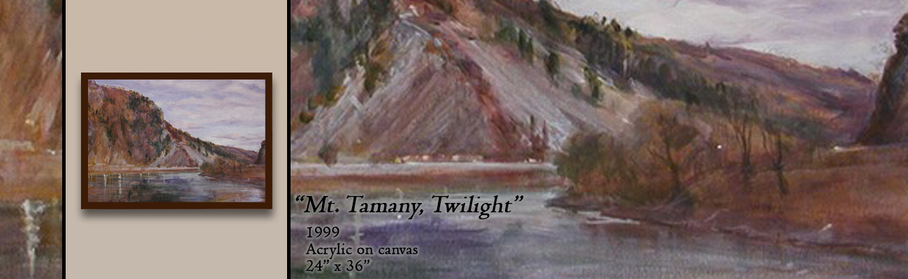 Acrylic Painting, Mt. Tammany, Twilight