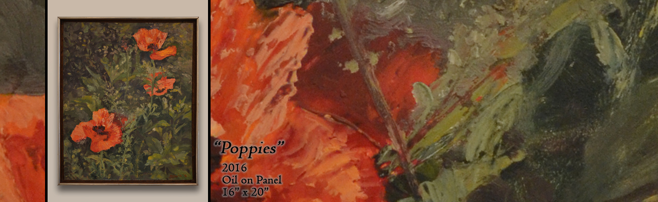 Oil Painting: Poppies