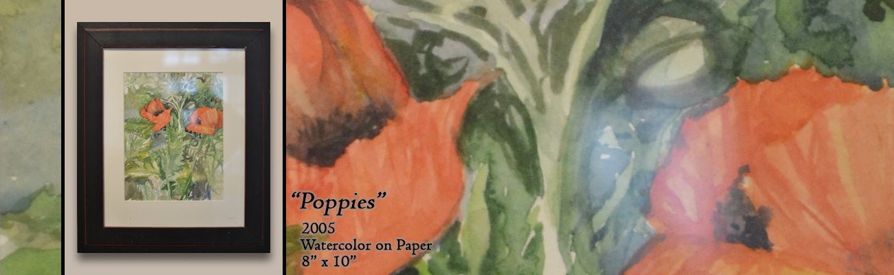 Watercolor Painting: Poppies