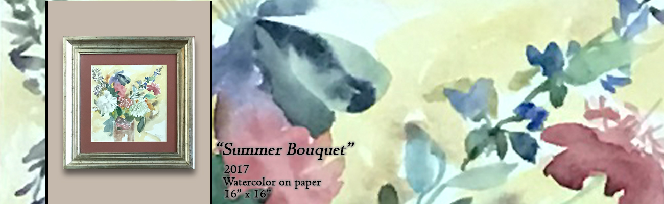 Watercolor Painting: Summer Bouquet