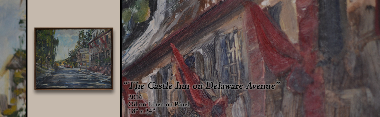 Oil Painting, The Castle Inn on Delaware Avenue