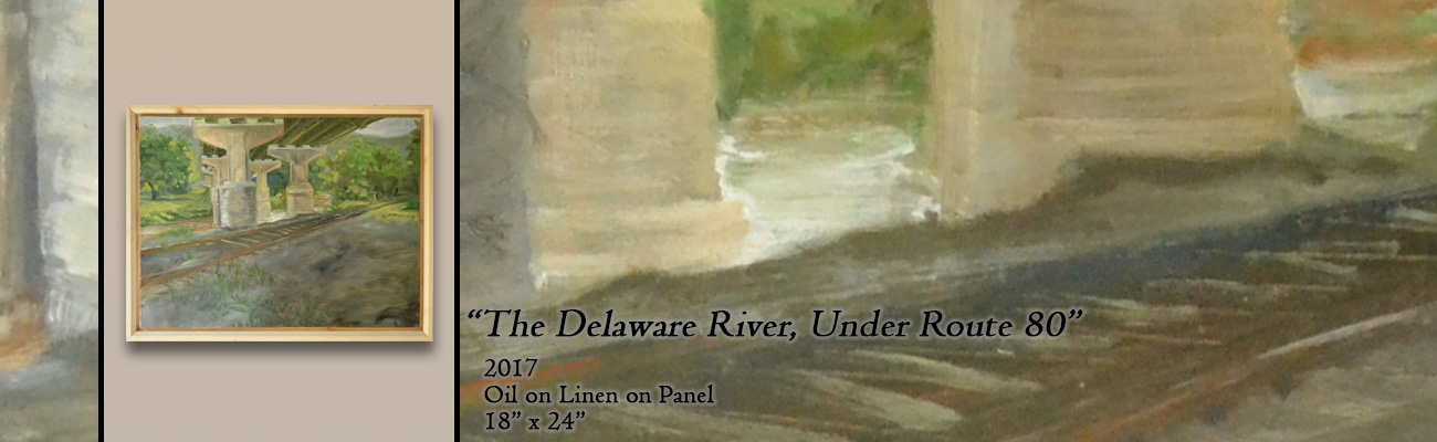 Oil Painting, The Delaware River, Under Route 80