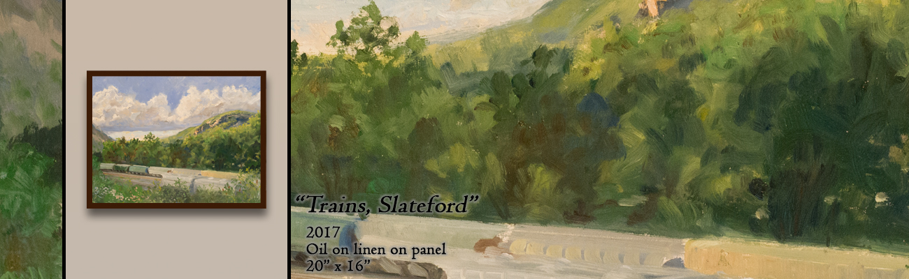 Oil Painting, Trains, Slateford