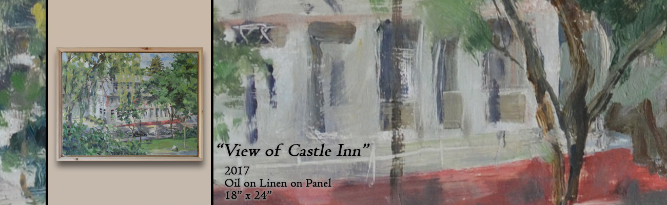 Oil Painting, View of the Castle Inn