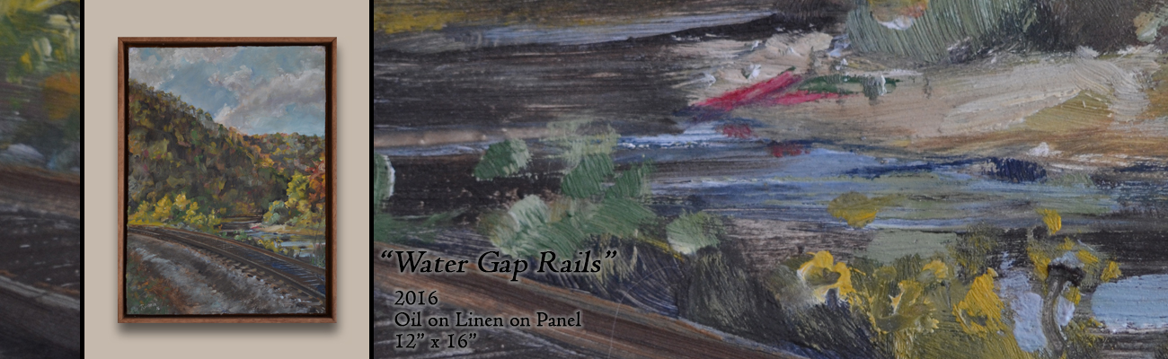 Oil Painting, Water Gap Rails