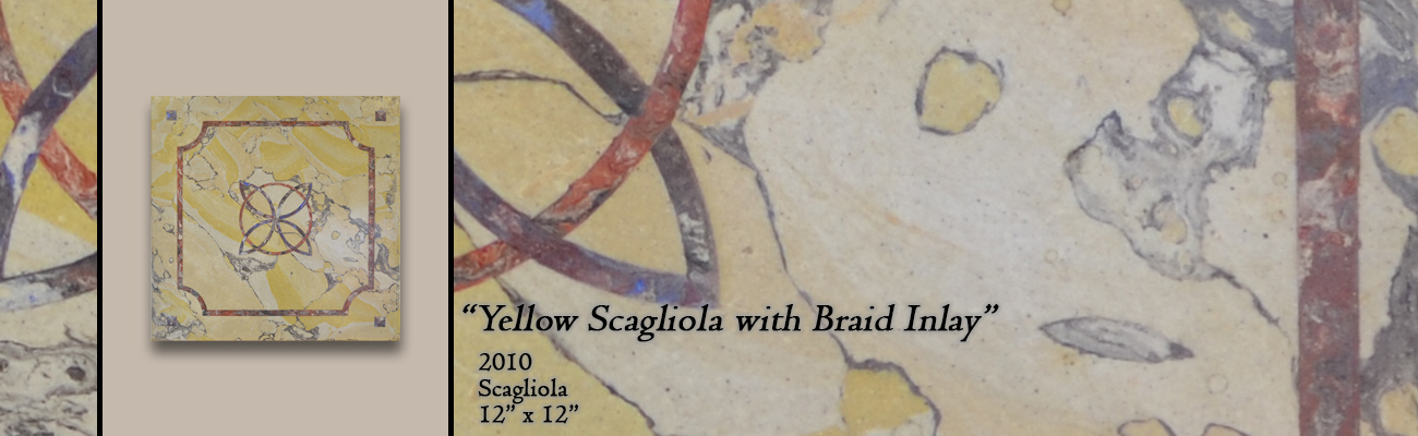 Yellow Scagliola with Braid Inlay